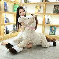 120cm Jumbo Unicorn Horse Plush Toys Giant Stuffed Animal Soft Doll Home Decor Gift for Children Kids Christmas Gift
