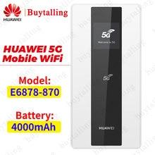 هواوي 5G موبايل واي فاي جيب صغير واي فاي شاحن لاسلكي راوتر هواوي E6878 870 NSA/SA 4000Mah MiFi مودم
