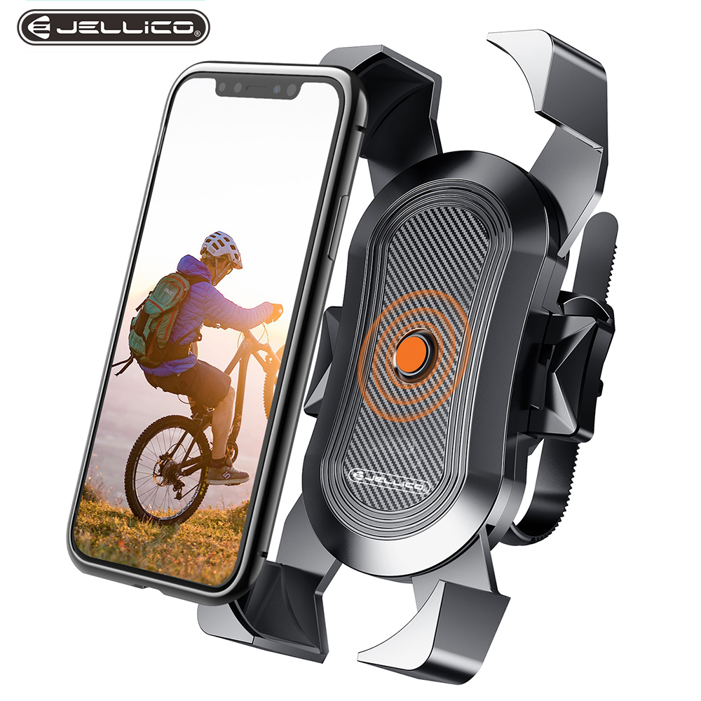 Jellico Bicycle Phone Holder For iPhone Samsung Motorcycle Mobile Cellphone Holder Bike Handlebar Clip Stand GPS Mount Bracket