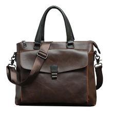 Мужской портфель из искусственной кожи деловая сумка через плечо