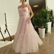 Розовое платье для выпускного вечера uzn кружевное плиссированное