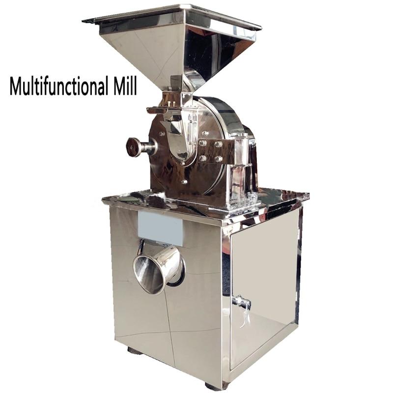 60 150 kg/h Stainless steel sesame grinder Commercial mill machine DRB FS20B Food Soy flour miller 220V/380V|Food Processors| |  - title=