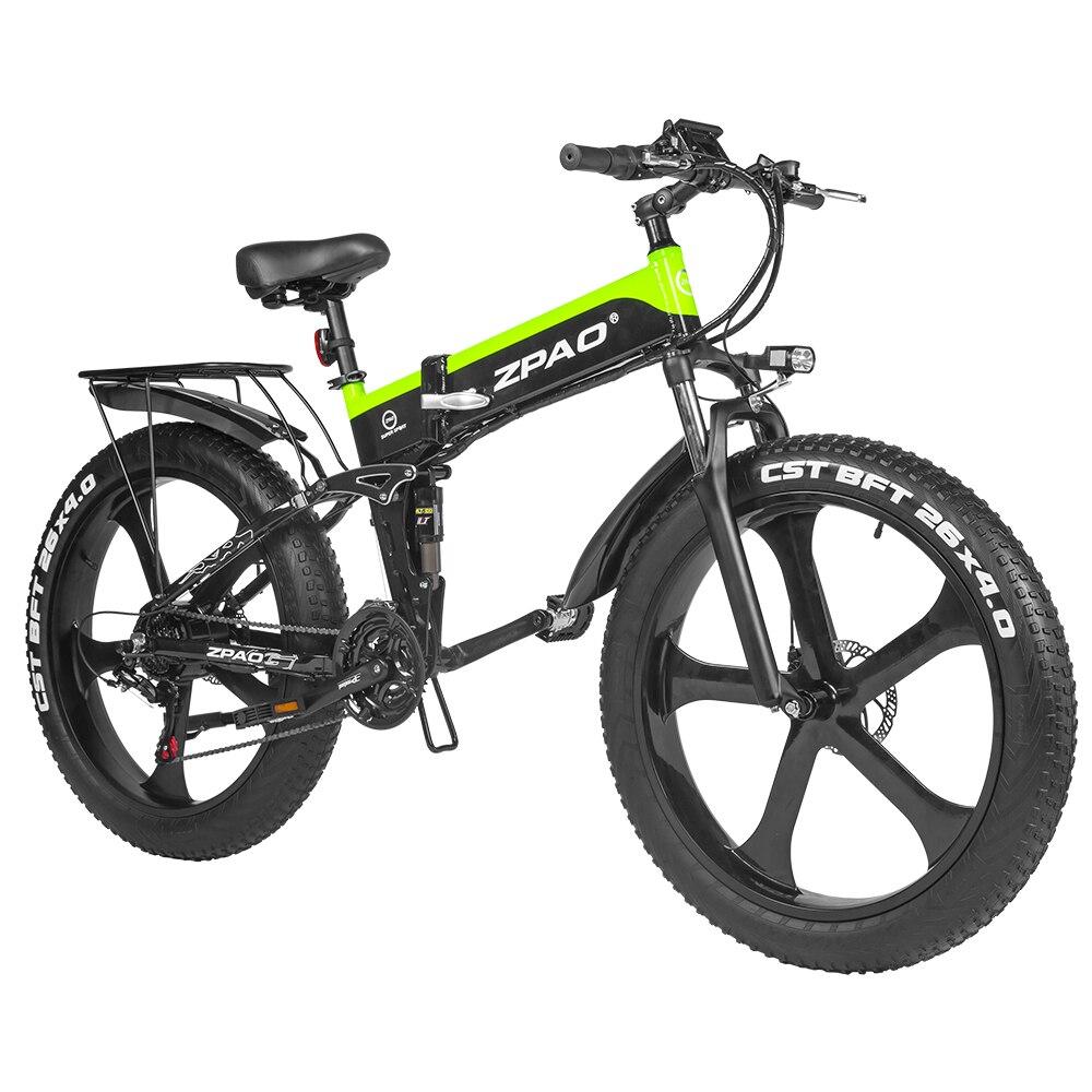 ZPAO Fat Bike e Bike 1000W Folded Electric Bicycle Electronic Bikes Bicicleta Electrica Adulto Mountain Electrical Bicycles 2