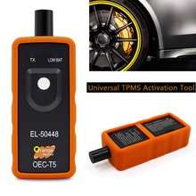 TPMS Tire Pressure Monitor Systems EL-50448 OEC-T5 TPMS Activation Tool General TPMS Reset Tool Tire Pressure Monitoring System autel maxitpms ts401 tpms diagnostic and service tool pre selection process offer faster activation and diagnostics