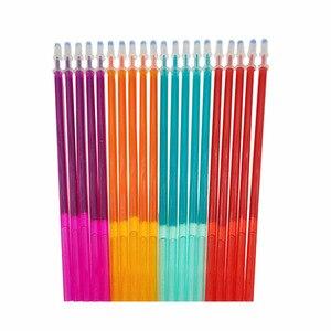 20pcs/set Colorful Ink Erasable Pen Refills 0.5mm Purple Orange Green Ink Erasable Gel Pen Rods School Office Writing Stationery
