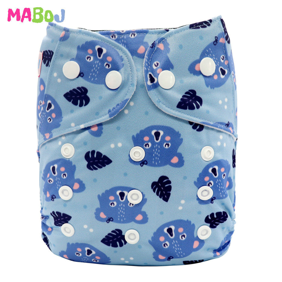 MABOJ Diaper Baby Pocket Diaper Washable Cloth Diapers Reusable Nappies Cover Newborn Waterproof Girl Boy Bebe Nappy Wholesale - Цвет: PD5-5-16