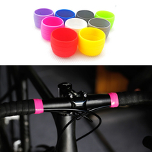 1Pair Silicone Bike Handlebar Strap Fixing Ring Elastic Loop Fixed Wrap Bicycle lichao 8112705 bike elastic silicone fixing bandage for cellphone tool stop watch more black