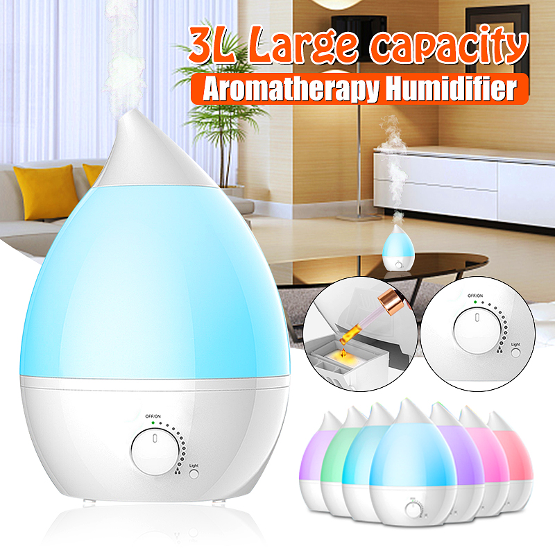 Meling Aroma Essential Oil Diffuser Ultrasonic Mist Humidifier Air Purifier 7 Color Change LED Night Light For Office Home