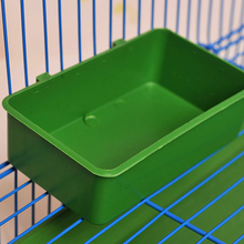 Multifunction Green Food Tray Parrot Bathtub Animal Cage Standing Wash Shower Box Bird Toys Pet Bird Cleaning Products Tool