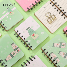 Get more info on the 1PC Cute Avocado Coil Pocket Mini Notebook To Do It Note Small Dairy Weekly Planner Memo Notepad School Office Stationery Gift