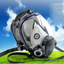 Máscara de rosto cheio de pouco peso máscara química anti-gás máscara de poeira ácida respirador tinta spray de pesticidas silicone filtro de máscara facial