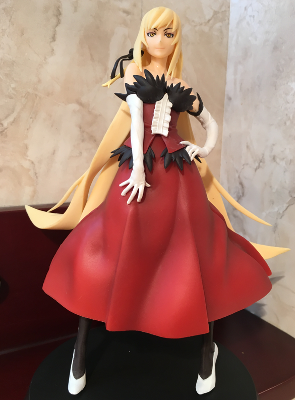 Oshino Shinobu Figure Kissshot Kiss-Shot Original Banpresto Senjougahara Hitagi SQ 18CM PVC  Action Figure Model Gift