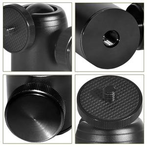 Image 5 - Caméra mini tête à billes 360 tête pivotante trépied tête à billes support de téléphone smaling monopode montage adaptateur pour appareil photo reflex numérique flash trépied