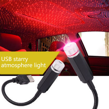 Car usb led Roof Star Night Light Projector Interior ambience lamp For BMW X5 E70 E60 E90 F10 image
