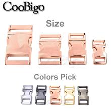 New 100pcs 10mm 15mm 20mm 25mm Metal Side Release Buckles for Paracord Bracelet Dog Cat Collar Buckles DIY Accessories
