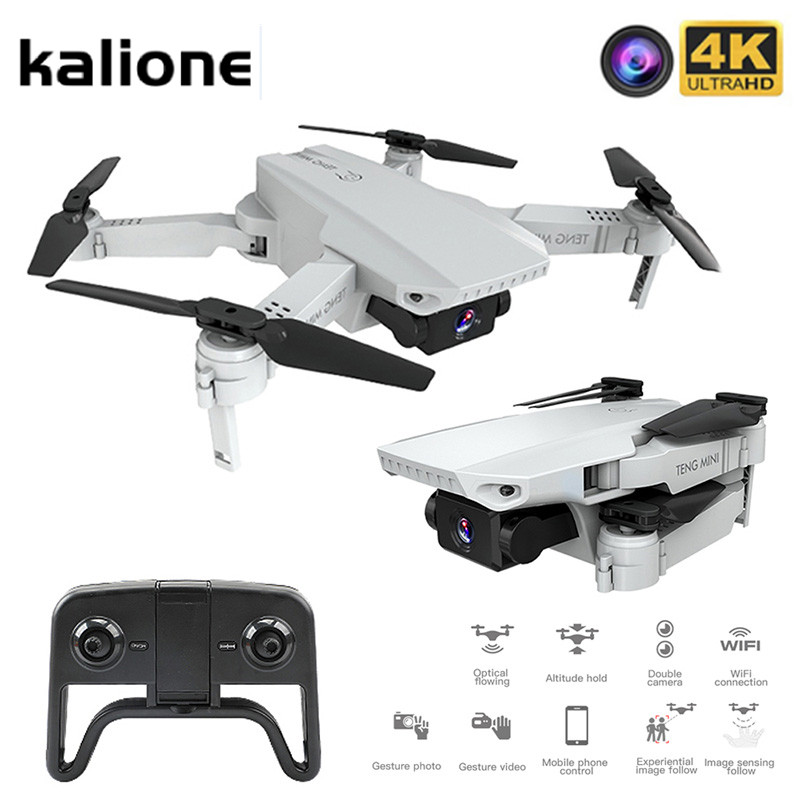 KALIONE KF609 Mini Drone HD 4k Camera Selfie with Drone FPV height keeping Optical Flow dron Foldable RC Quadcopter toy VS SG907