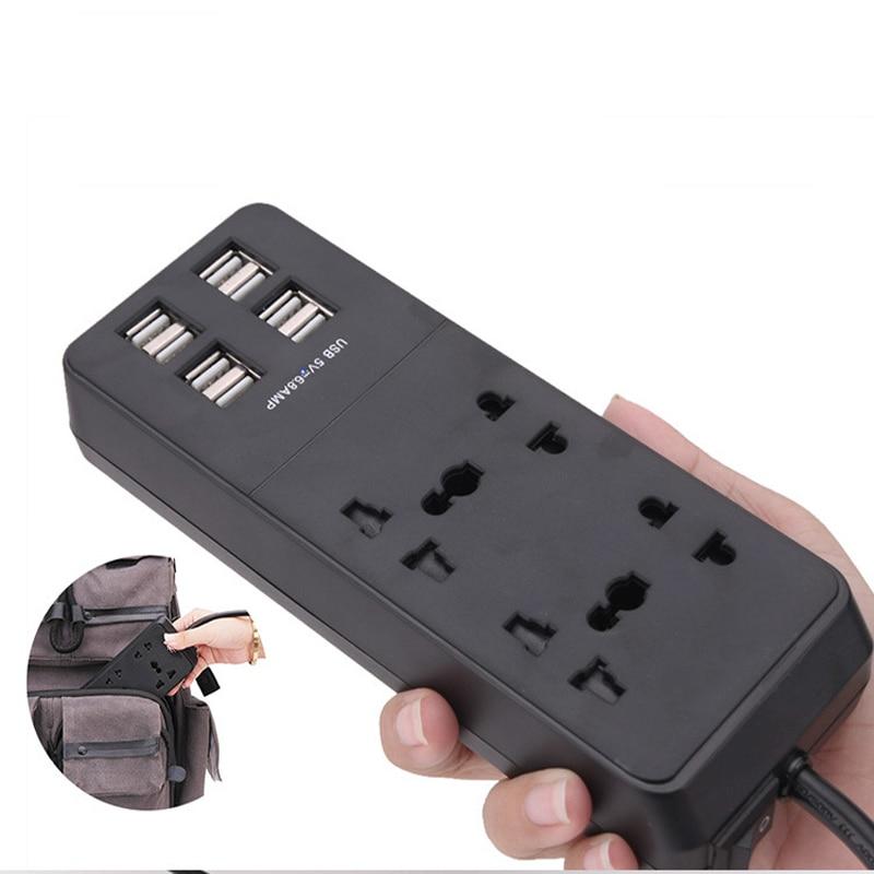 New USB Smart Socket with switch Power Strip wall socket 4 AC Outlets 8 USB Ports European standard plug UK Plug Power 1.5M