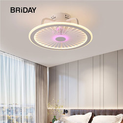smart ceiling fan lamp with lights remote control lights ceiling ventilator lamps 50cm with APP control bedroom decor new