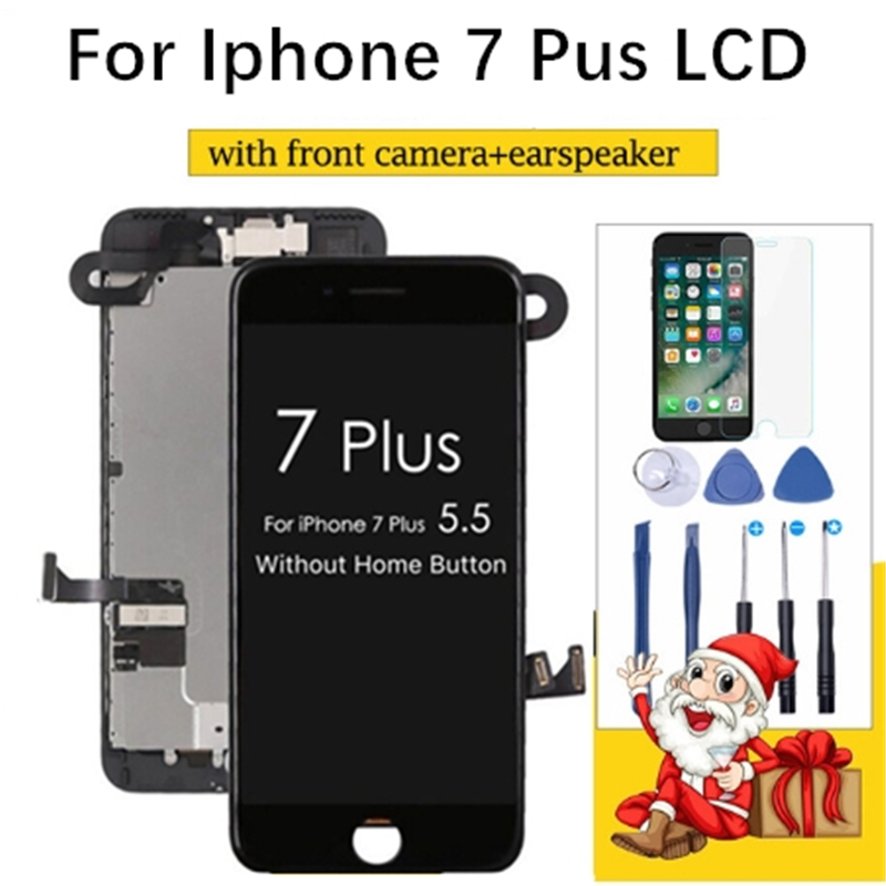 Repair parts For Apple iPhone 7 plus Display Full Assembly Replacement Digitizer with Front Camera Earspeaker