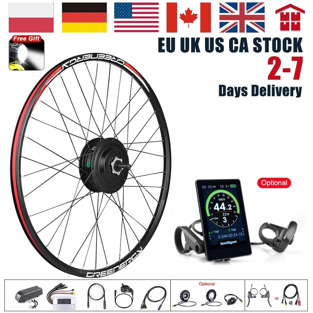 EBike Electric Bicycle Brushless Front Rear Wheel Gear Hub Motor Conversion Kit