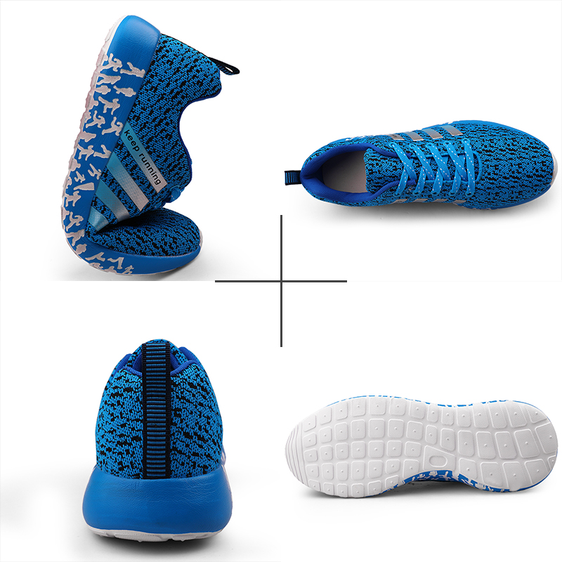 Image 5 - 2019 New Autumn Fashion Men Flyweather Comfortables Breathable Non leather Casual Lightweight Plus Size 47 Jogging Shoes men 39S-in Men's Casual Shoes from Shoes