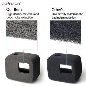 Image 5 - SOONSUN Wind Noise Reduce Foam Cover Windshield Sponge + Frame Mount + Camera Lens Cap for GoPro Hero 7/6/5 Go Pro Accessory Kit
