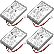 4 個 2000 6400mah バッテリーパック + usb 充電ケーブルソニーのゲームパッド PS4 バッテリー Dualshock4 ワイヤレスコントローラ充電式電池