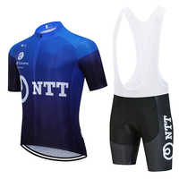 New 2020 TEAM NTT cycling jersey 20D bike Shorts suit mtb Ropa mens summer quick dry pro BICYCLING shirts Maillot Culotte wear