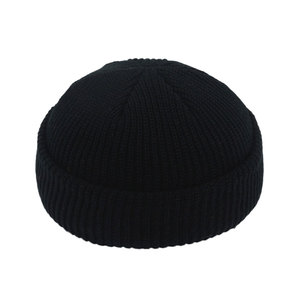 Image 4 - Men Knitted Brimless Hats Hip Hop Beanie Skullcap Street Hat Women Men Acrylic Unisex Casual Solid Pumpkin Portable Melon Cap