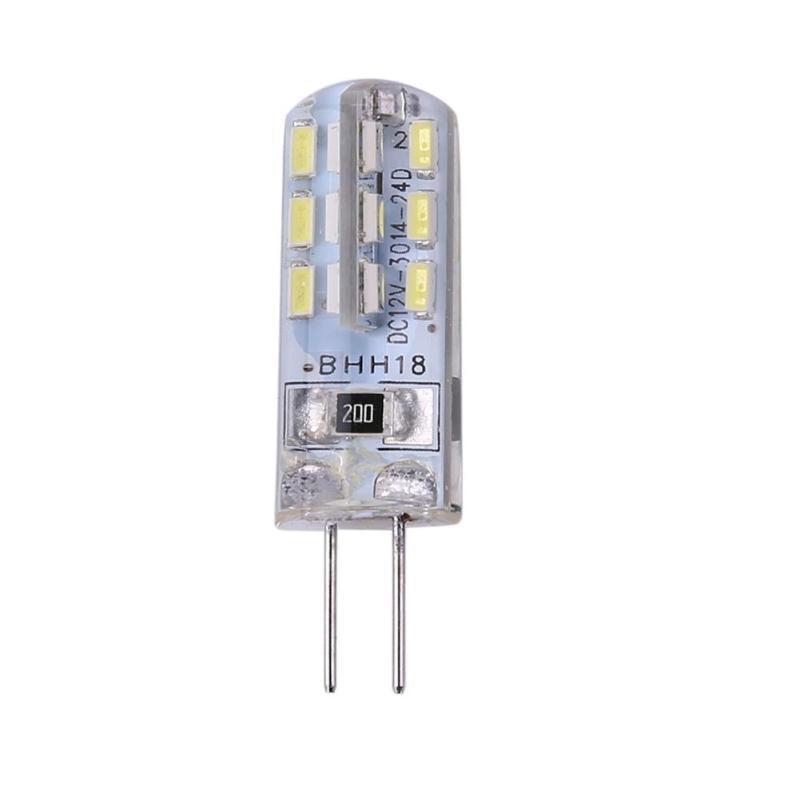 G4 LED Lamp LED Bulb 2W DC 12V 24 SMD3014 110LM White LED Silicone Corn Bulb Light Halogen Lights For Outdoor Indoor Living Room