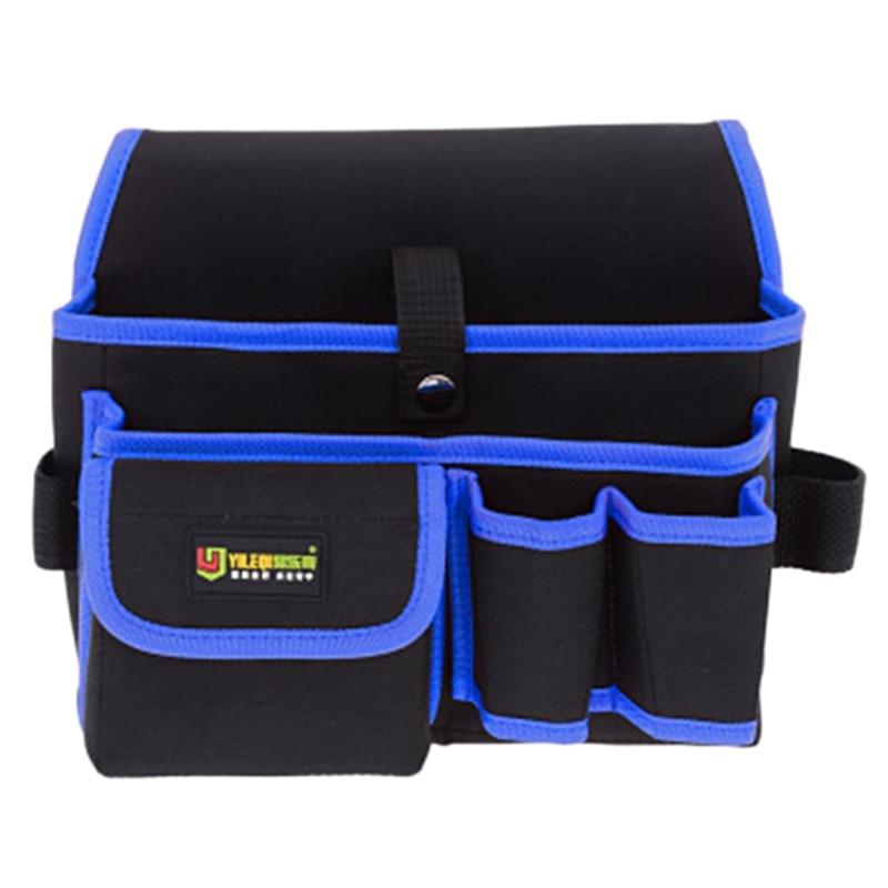 HHO-Yileqi Waterproof Tool Bag Travel Men Waist-Type Oxford Cloth Carpenter Tool Bag Multi-Functional Bag