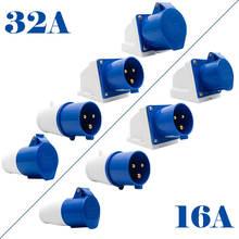 32a/16a 3 pin connecto промышленные мужской женский Вилки 240v