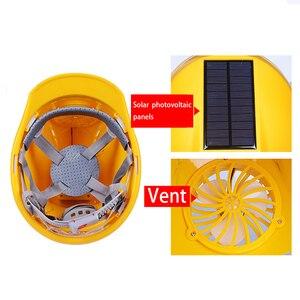 Image 4 - 職場帽子ソーラーパワー調節可能な屋外安全とファンプロテクティブサンスクリーンサイクリング換気セキュリティ建設ヘルメット