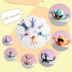 Criativo 3D Estéreo Marcadores para Livros Marcador Projeto Bonito do Animal Dos Desenhos Animados para Crianças artigos de Papelaria PVC Bookmark Páginas Mark