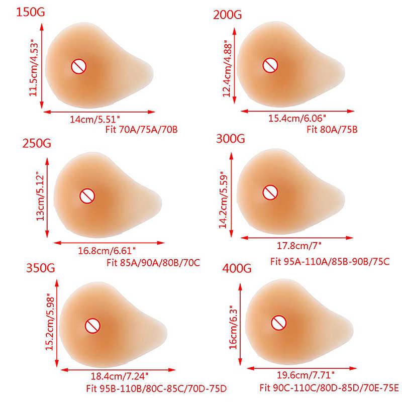 Nueva práctica prótesis de pecho de silicona de 150g-400g, soporte de Gel de silicona Artificial para pecho postizo de pecho falso