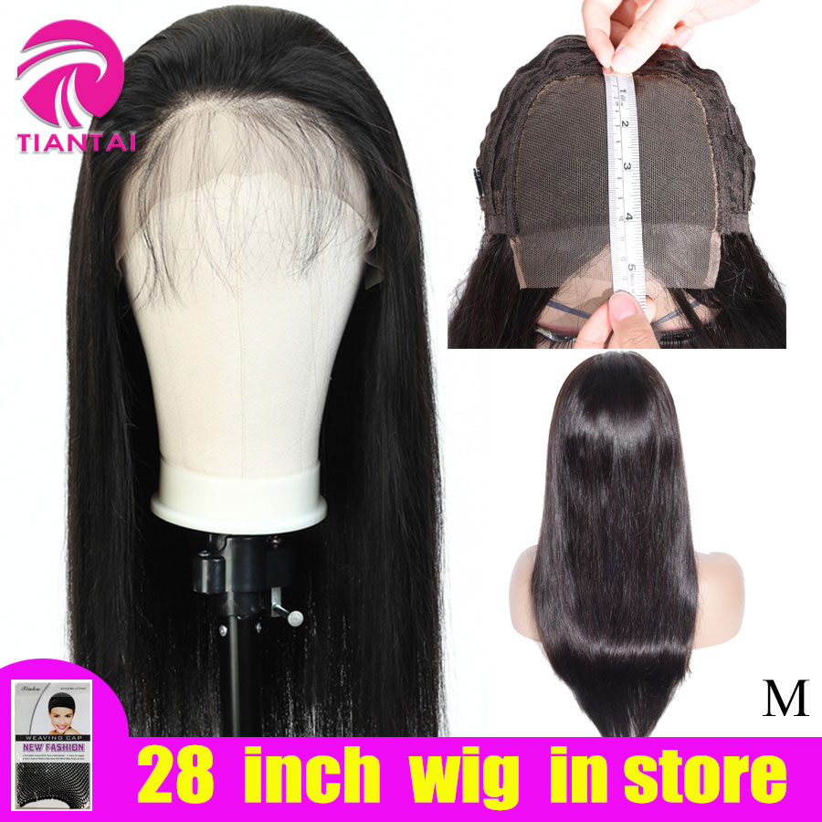 Closure Wigs 150-Density Remy-Lace Straight 100%Human-Hair Woman Brazilian 10-28inch title=