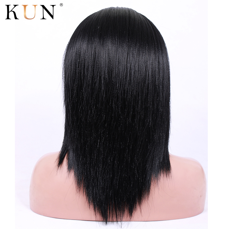 Yaki Straight 13X6 Lace Front Human Hair Wigs Remy Human Hair Wigs 150 180 Density Pre Plucked 13x4 Lace Front Wig