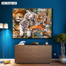 DIY 5D Full Diamond Painting Cross Stitch Painting White tiger Diamond Embroidery Needlework Patterns Rhinestone kits diy 5d full diamond painting cross stitch painting wolf diamond embroidery needlework patterns rhinestone kits