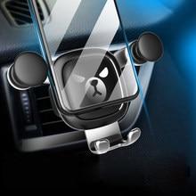 Soporte para teléfono móvil de coche Gravity, soporte para teléfono móvil con dibujos animados de oso loco, para iphone, samsung, huawei, xiaomi