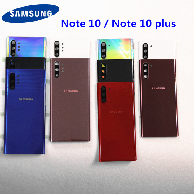 SAMSUNG Back Battery Cover Housing For Samsung Galaxy Note 10 N970 N970F Note 10 plus N975 N975F NOTE10 Back Rear Glass Case