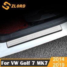 Araba Styling için Volkswagen VW Golf 7 MK7 2014 - 2019 yan kapı eşiği koruyucu eşik sürtme plakası hoşgeldiniz pedallar kapakları trimler