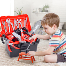 цена на Children's Toolbox Set Simulation Repair Tool Drill Screwdriver Repair Kit House play Toys Tool Set Puzzle Toy Set for kids