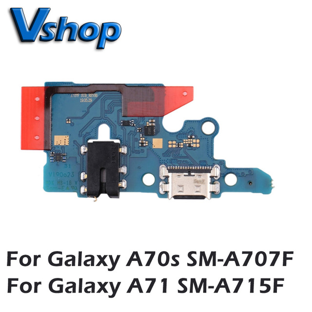 For Galaxy A70s SM A707F Charging Port Board for Galaxy A71 SM A715F Mobile Phone Replacement parts USB Charger Board