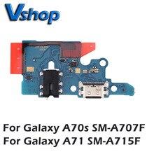 Плата зарядного порта для Galaxy A70s, плата зарядного устройства для Galaxy A71, мобильный телефон, запасные части, USB, зарядное устройство, плата, для Galaxy A70s, с USB разъемом