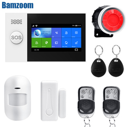 4,3 zoll touch screen WIFI GSM smart Alarm System home Security drahtlose draht Einbrecher kit APP Fernbedienung RFID Arm entwaffnen