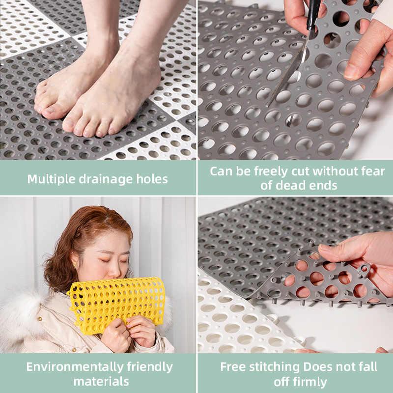 Home Bath Mat Mat Foot Massage Shower Room Stitching Non-slip PVC DIY Feet Pad C