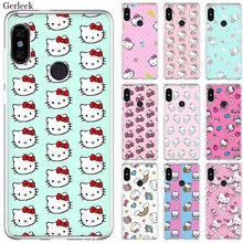Mobile Phone Case For Xiaomi Redmi Note 4 4X 3 5 6 7 Pro 5A Hard Cover Cute Hello Kitty(China)