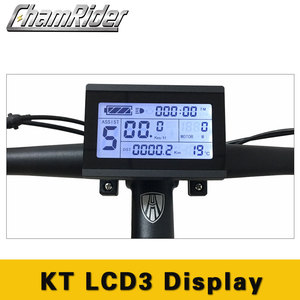 Чамрайдер Электрический велосипед дисплей метр Панель управления 24 в 36 в 48 в 60 в 72 в интеллектуальный KT lcd 3 Julet водонепроницаемый разъем