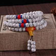 High imitation Xingyue Bodhi 108 Beads Beaded Bracelets Ethnic Style Tibetan Rosary Couple Bracelets Car Decoration Pendant(China)