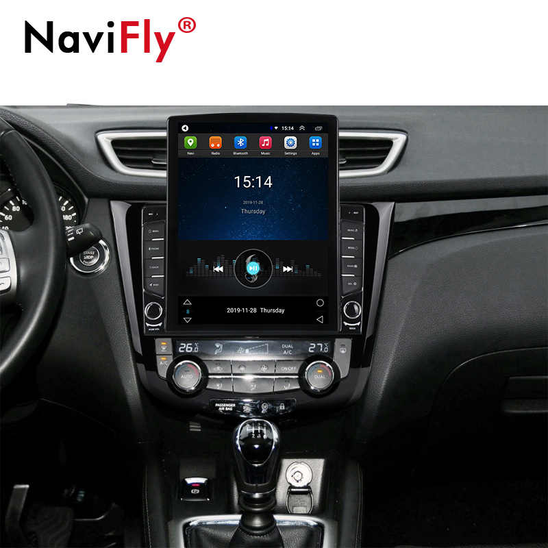 NaviFly แนวตั้ง Tesla หน้าจอ IPS DSP สำหรับ Nissan X-Trail XTrail T32 Qashqai J11 Android วิทยุมัลติมีเดียผู้เล่น